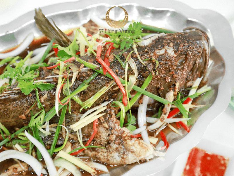 Cá song hấp xì dầu - Món ngon nổi tiếng tại 37A Hùng Vương