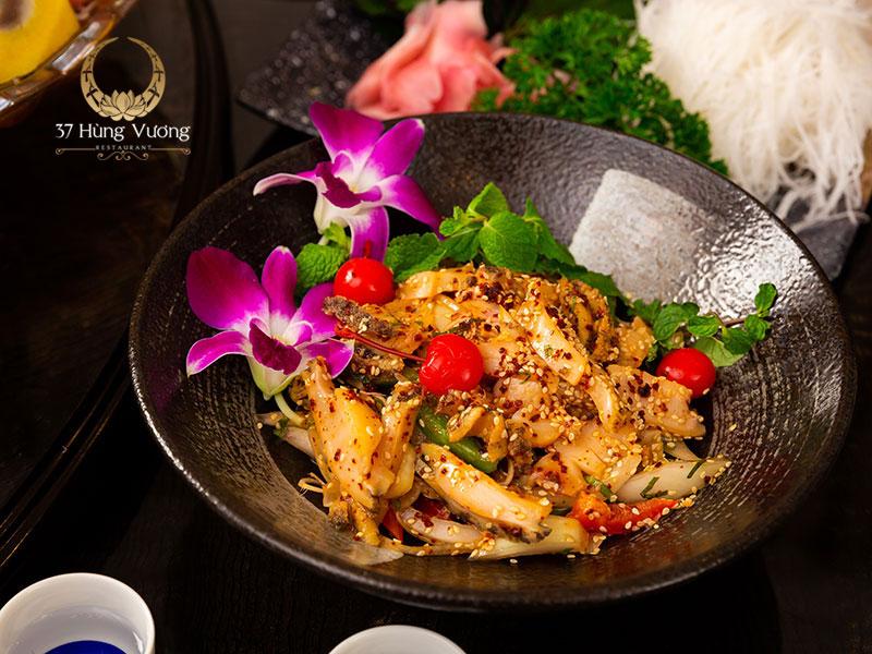Thực đơn đặt tiệc tại Nhà hàng 37A Hùng Vương đa dạng với hàng trăm món ngon thượng hạng
