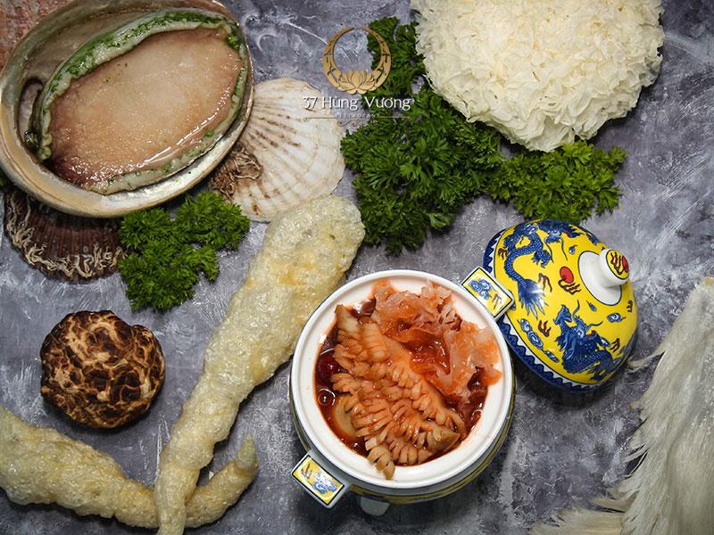 Món ngon chế biến từ Bào ngư Úc viền xanh khi đặt tiệc tại nhà hàng