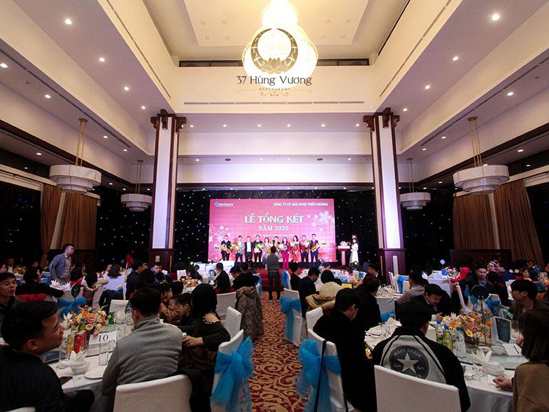 Không gian tổ chức tiệc tại sảnh Đại yến nhà hàng NCC