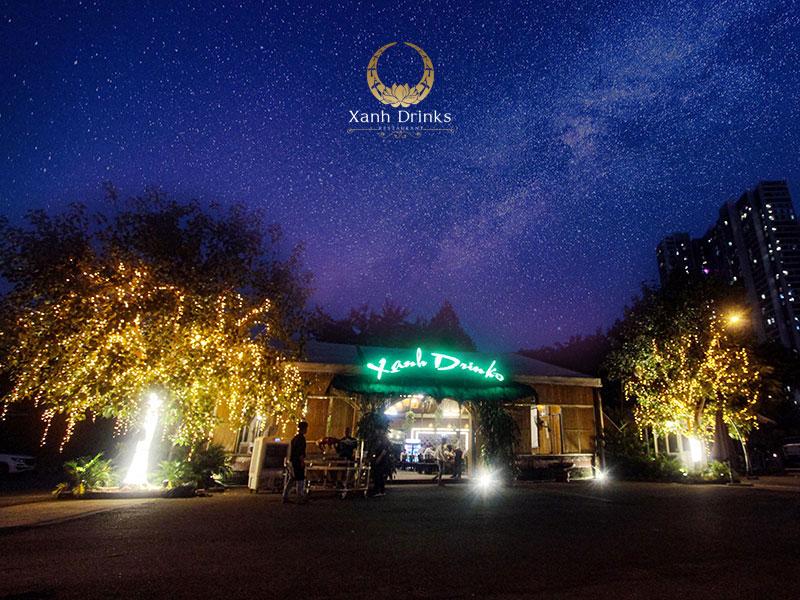 Nhà hàng Xanh Drinks với vị trí thuận lợi bậc nhất