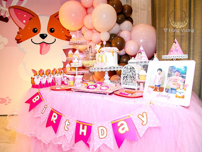 Tiệc sinh nhật hoàn hảo cho bé yêu