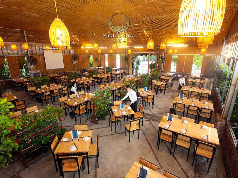 Nhà hàng Xanh Drinks – Không gian tổ chức tiệc thoáng đãng, thân thiện