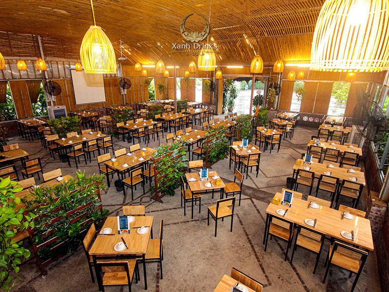 Nhà hàng Xanh Drinks – Không gian tổ chức tiệc thoáng đãng và thân thiện