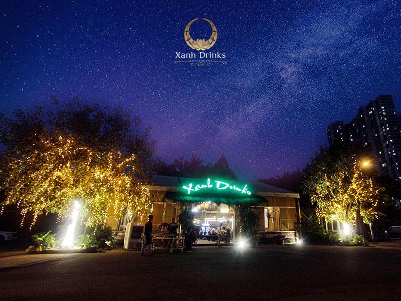 Nhà hàng Xanh Drinks – Nhà hàng tổ chức tiệc với không gian thoáng đãng, thân thiện