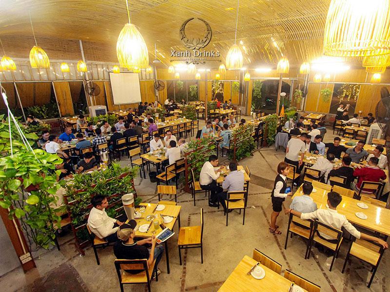 Nhà hàng Xanh – Không gian đặt tiệc thoáng đãng và thân thiện
