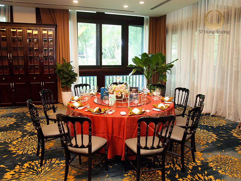 Không gian tổ chức tiệc tại phòng VIP nhà hàng NCC - Trung tâm hội nghị Quốc gia