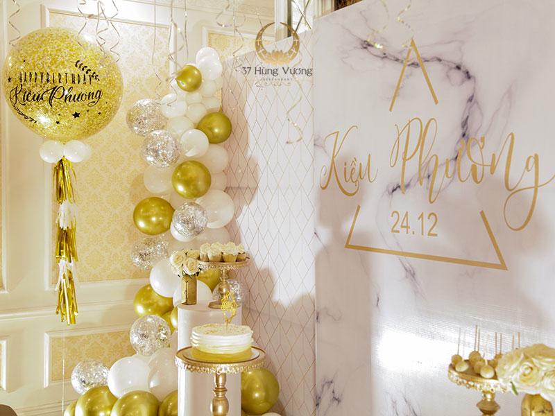 37 Hùng Vương – Nhà hàng tổ chức sinh nhật phong cách tân cổ điển