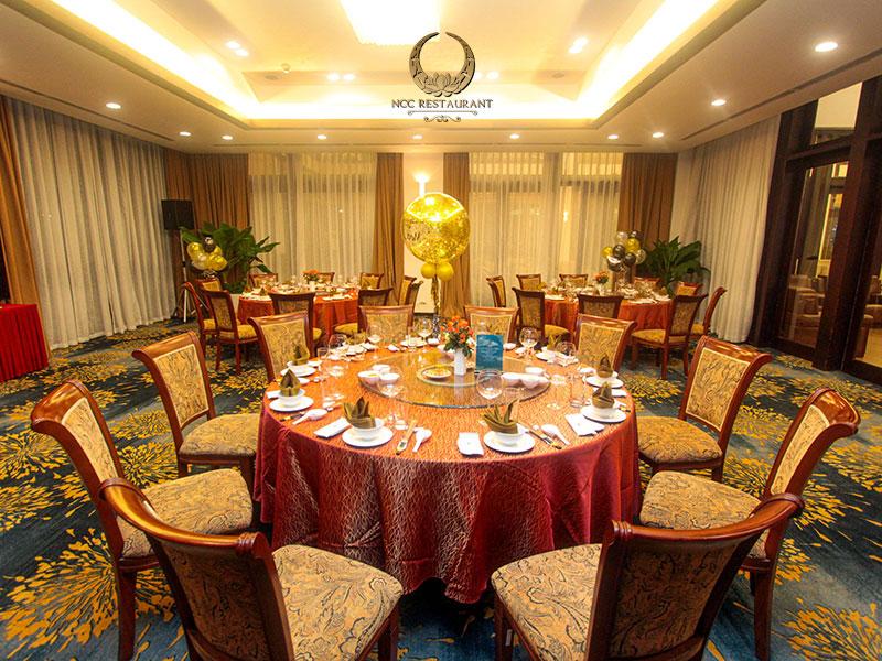 Nhà hàng NCC với 2 phòng VIP hiện đại có sức chứa tối đa 50 khách mỗi phòng